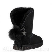 UGG Sharm Goat Ash Black - Черные