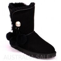UGG Bailey Button Pom Black - Черные