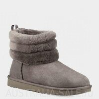 UGG Mini Fluff Quilted Boot Grey - Серые