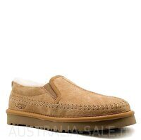 Слипоны UGG Stitch Slip Chestnut - рыжие