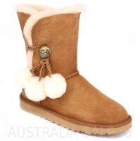 UGG Bailey Button Pom Chestnut - Рыжие