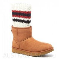 UGG II Sacai Mini Knit Chestnut - Каштановые