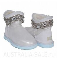 UGG Australia Rhinestone Mini Metallic I Do! УГГИ Мини С Бусами Ай Ду