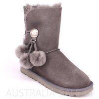 UGG Bailey Button Pom Grey - Серые